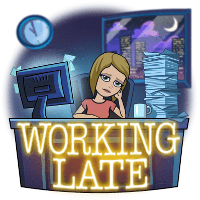 working late